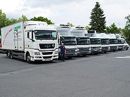 Vom großen LKW bis zum flexiblen Sprinter: der eigene Fuhrpark von T. Meissner.