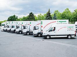 Dank eigenem Fuhrpark bietet T. Meissner eine zuverlässige Logistik.